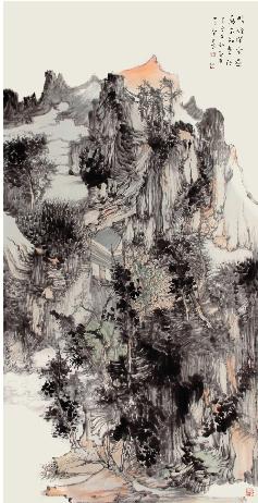 王贵华 暖风闲云过 万木知春秋 136×68cm图片